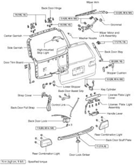 toyota sienna rear door parts diagram view toyota free engine image for user manual download repair guides windshield wipers washers rear window wiper washer system autozone com