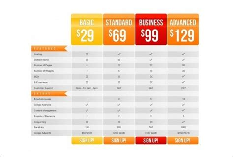 price chart design free psd download 657 free psd for commercial designer price chart template psd best free home