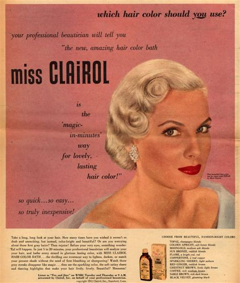 color ad vintage on perfume hair dryer and