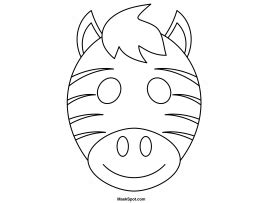 printable animal masks zebra zebra face template www pixshark com images galleries