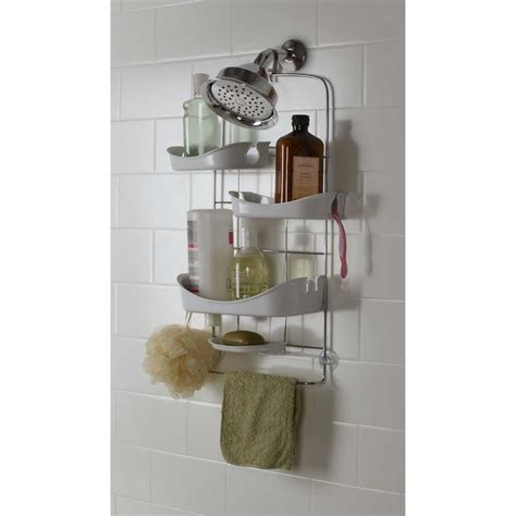Red shower caddy decosee com