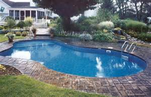 Backyard Pools With Waterfalls Mountain Lake Shaped Inground Pools Cannon Pools And Spas