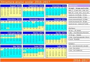Calendar 2018 Cu Saptamani Pro Parinti Structura Anului Scolar 2016 2017