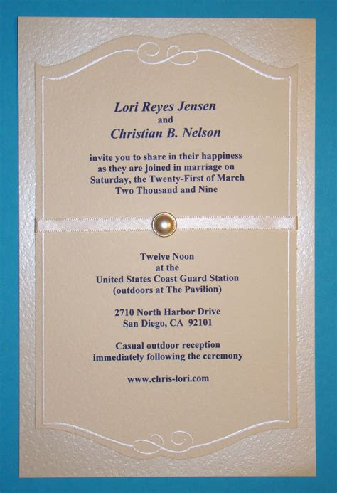 Front Of A Wedding Invitation