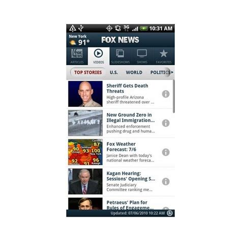 fox news app for android fox news android app review