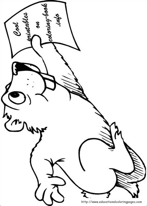 groundhog day coloring pages educational fun kids