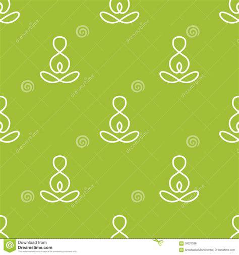 yoga pattern photoshop vector minimalistic yoga sign seamless pattern stock