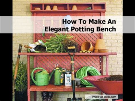 lowes potting bench how to make an elegant potting bench
