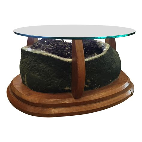 Geode Coffee Table Amethyst Geode Coffee Table Chairish