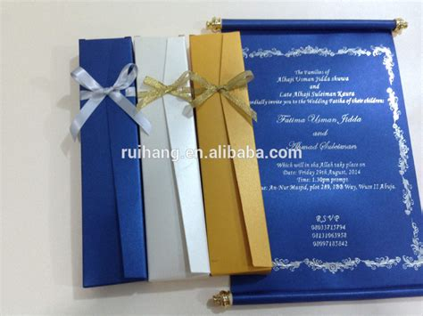 Wedding Invitation Card Royal Blue by Royal Blue Scroll Wedding Invitation Card With Box Buy
