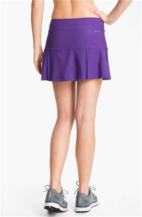 nike pleated drifit tennis skirt in purple ultra violet