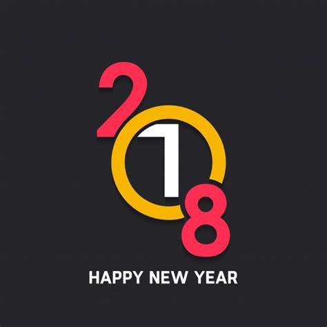 modern new year modern new year 2018 design vector free