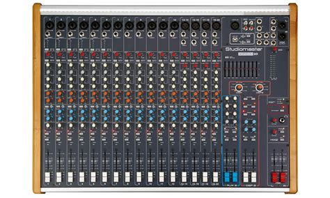 Stereo Master Mixer studiomaster horizon 2020 2000w 20 channel powered mixer with effects at audio works