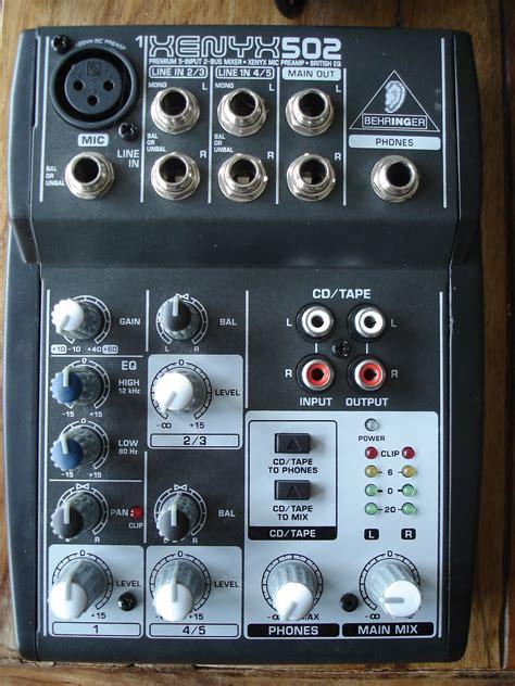 Mixer Behringer Xenyx 502 behringer xenyx 502 image 526067 audiofanzine