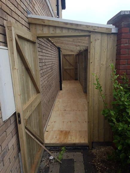 lean  shed malahide side passage sheds mac carpentry