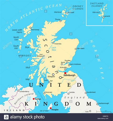 map of edinburgh scotland scotland political map with capital edinburgh national