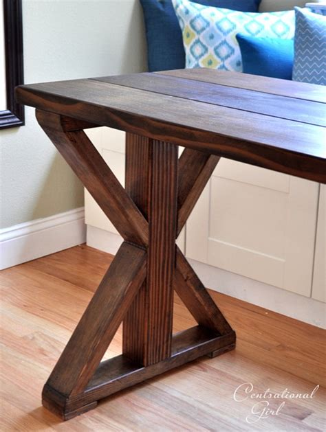 diy table with cross legs x base table start to finish centsational