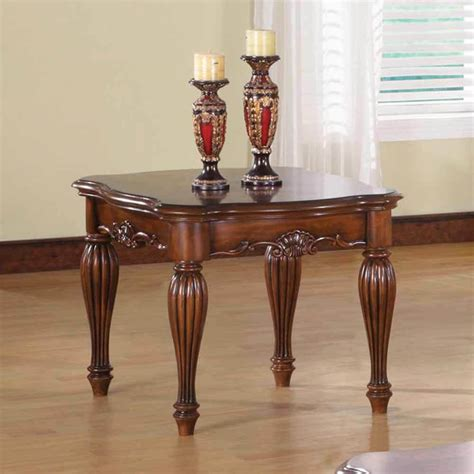 Side Table by Dreena Occasional Living Room End Side Table Carved Solid