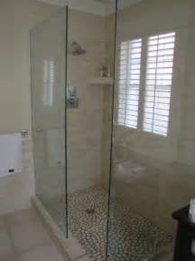 need advice walk in shower no door