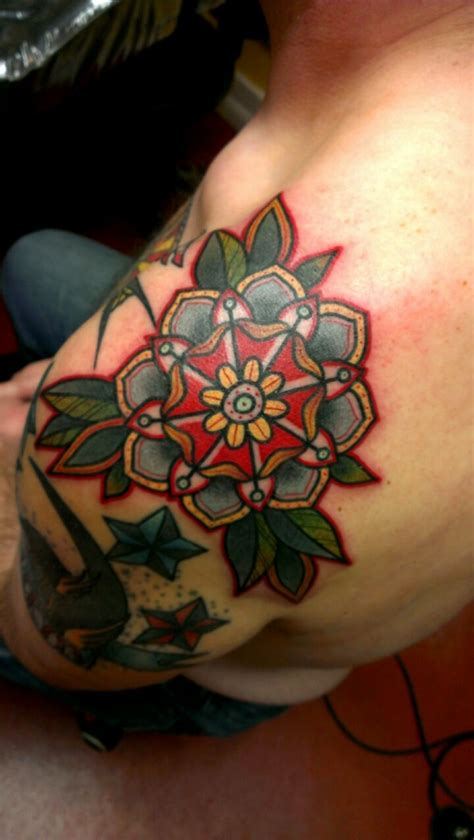 traditional flower with redline by zack taylor at evermore