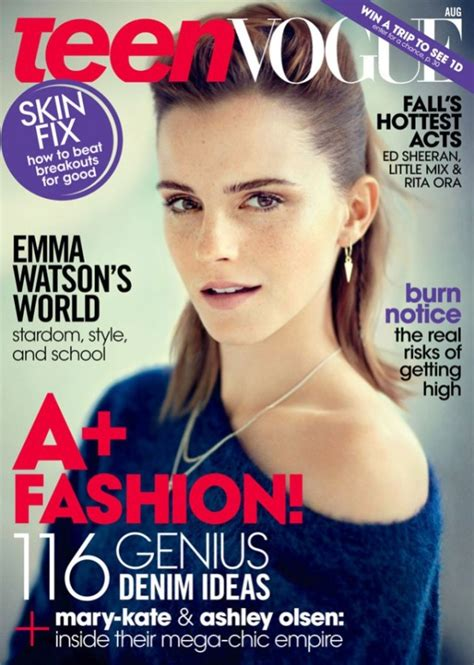 Magazine Makeover by Watson Graces The Cover Of Vogue August 2013