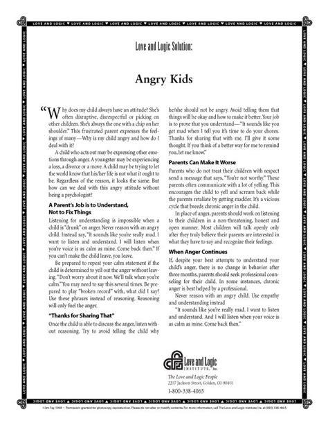 Angry Love and Logic Kids