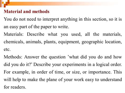 materials and methods section research method in animals science part 5 ppt video
