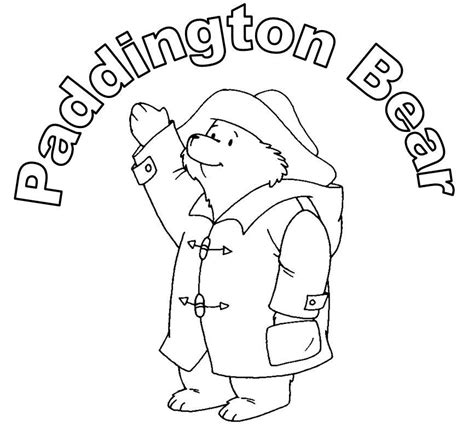 paddington bear coloring page stop n play