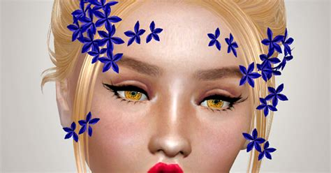 flowers bow headband at jenni sims 187 sims 4 updates jennisims downloads sims 4 sets of accessory flowers bow