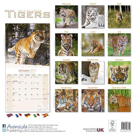 tigers calendar 2017 pet prints inc