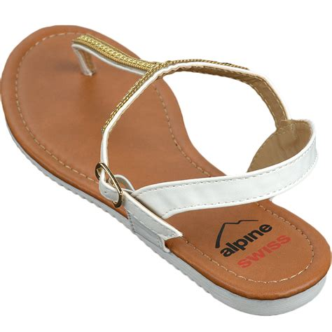 Wedges 5flat Fladeo alpine swiss womens dressy sandals slingback thongs gold t flat flip flops ebay