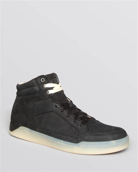 diesel sneakers diesel tempus basket sneakers in black for lyst