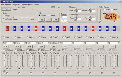 drum pattern software free pattern based music maker flexibeatz