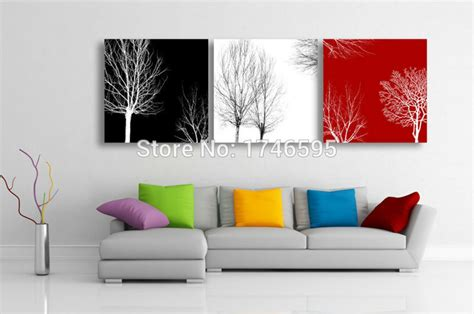 red black white home decor big size 3pcs living room bedroom wall decor home decor