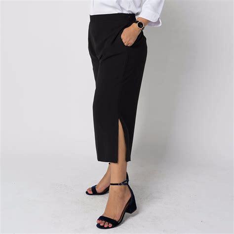 Celana Big 3 jenica cullote pant black fashion big size