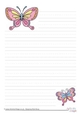 butterfly writing paper writing paper