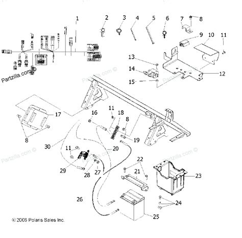 polaris parts diagram 2004 polaris 500 sportsman 6x6 wiring diagram