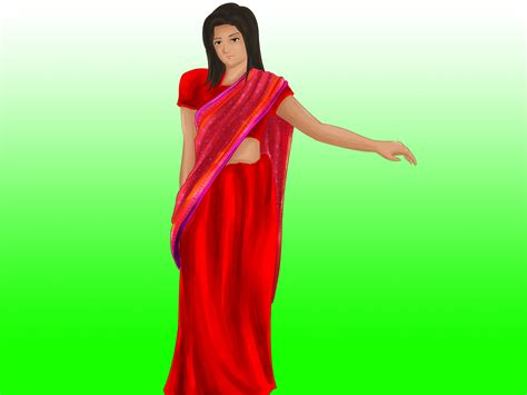 step by step saree draping how to wear a saree in bengali style 6 steps wikihow