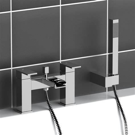 bath handheld shower modern chrome brass monobloc sink bathroom filler bath