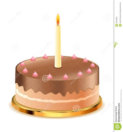 Cake Candle chocolate cake with candle stock photo image 34516640