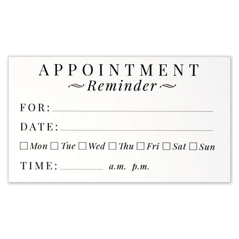 appointment reminder card template lovely images of business card measurements business