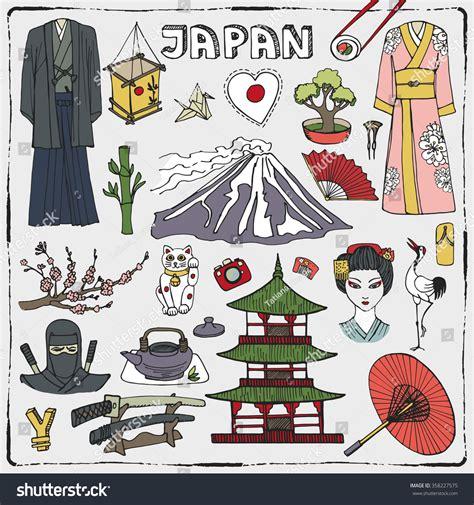 doodle japan royalty free japan doodle elements vintage symbols