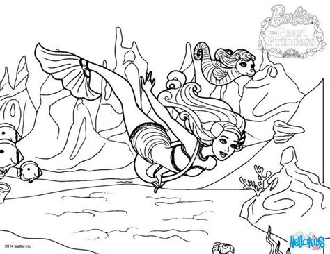Mermaid Lumina And Kuda On Their Way Coloring Pages Pearl Princess Coloring Pages