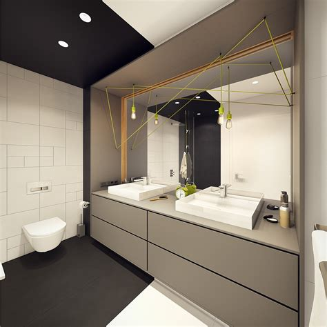 creative bathroom lighting a modern scandinavian inspired apartment with ingenius