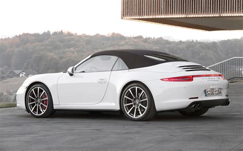 white porsche convertible 2013 porsche 911 carrera 4 and 4s first drive motor trend