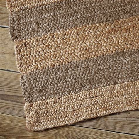 Jumbo Stripe Jute Rug Traditional Rugs By West Elm Jute Rugs