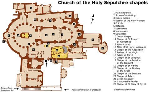 Dome Of The Rock Floor Plan church of the holy sepulchre chapels 171 see the holy land