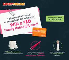 Family Dollar Sweepstakes - win a 10 family dollar gift card 992 winners i crave freebies