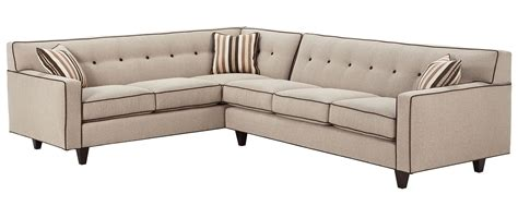 Mid Century Modern Sectional Sofa W Button Back Club Designer Sectional Sofas