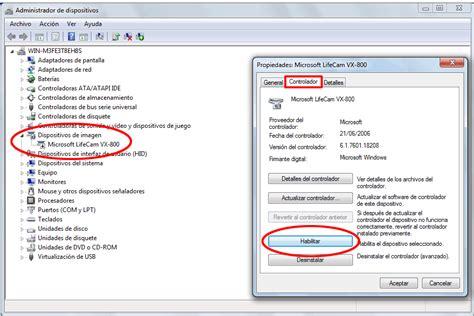 como instalar la camara web activar o desactivar tu c 225 mara web en windows 7